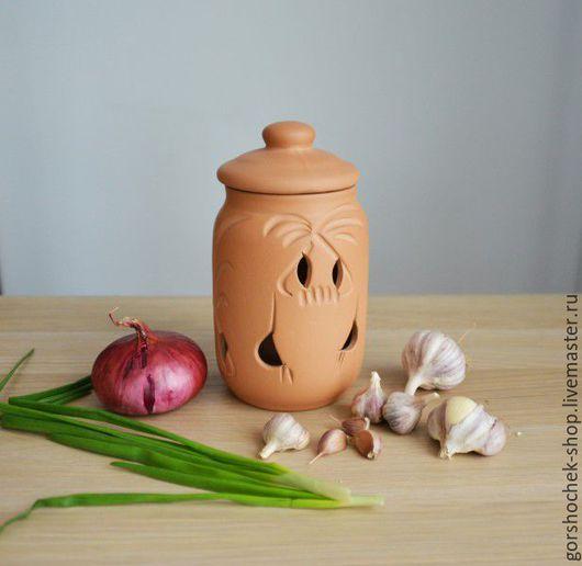 Кухня ручной работы. Ярмарка Мастеров - ручная работа. Купить Глиняный горшок для хранения овощей (1л). Handmade. Глиняная посуда