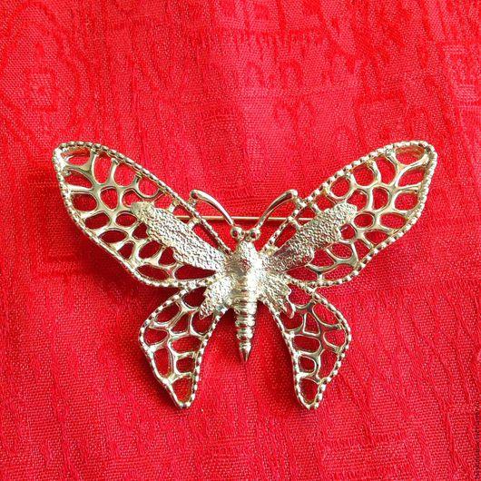 Винтажные украшения. Ярмарка Мастеров - ручная работа. Купить Брошь SARAH COVENTRY ажурная бабочка, винтаж. Handmade. Брошь бабочка