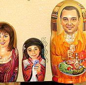 Подарки к праздникам handmade. Livemaster - original item Matryoshka family portraits nesting dolls, custom russian dolls. Handmade.