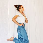 Одежда handmade. Livemaster - original item Jeans trousers with embroidery and pockets. Handmade.