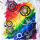 Футболки, майки ручной работы. Заказать Crazy rainbow. Марина (LCMDesign66). Ярмарка Мастеров. Роспись по ткани, майка, краски по ткани