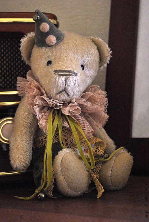 Мишки Тедди ручной работы. Ярмарка Мастеров - ручная работа. Купить Гийом (Guillaume) (нашел дом). Handmade. Желтый, клоуны