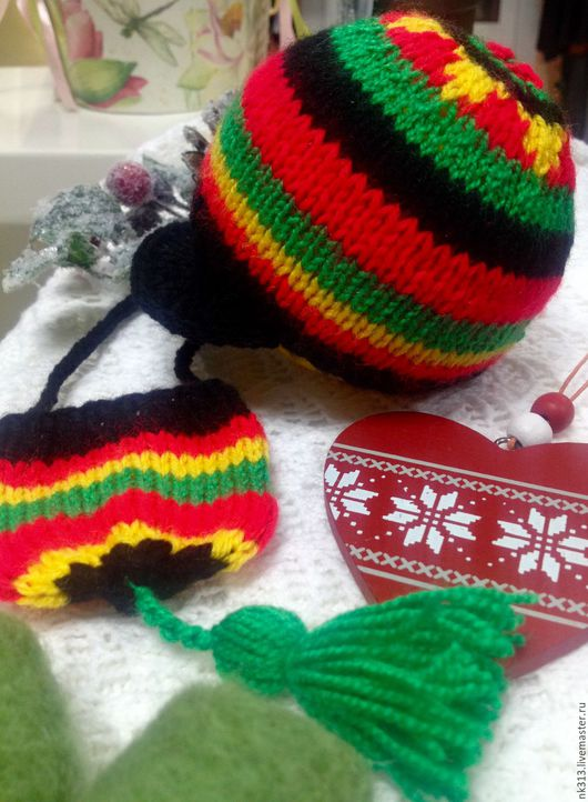 """Одежда для кукол ручной работы. Ярмарка Мастеров - ручная работа. Купить """"Ямайка"""" шапка и сумочка для куклы. Handmade. Комбинированный, бейсболка"""
