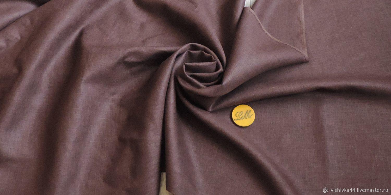 Ткань лен шоколад ( коричневый ) – заказать на Ярмарке Мастеров – M73XGRU   Ткани, Кострома