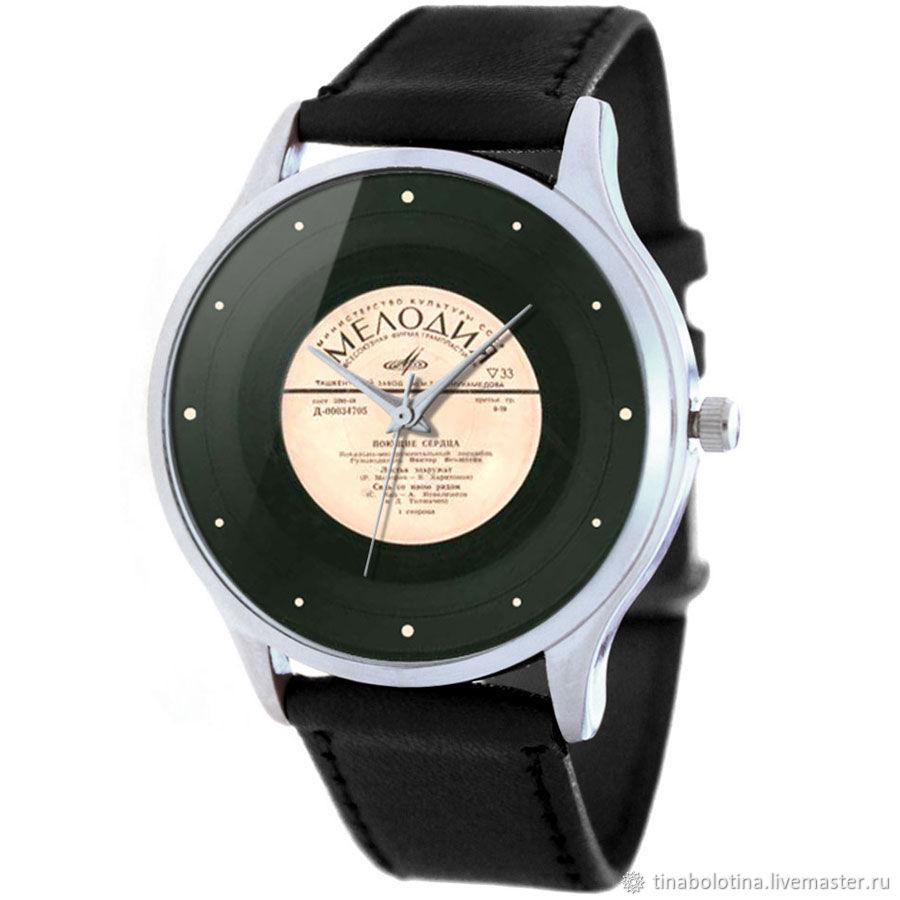 Дизайнерские наручные часы Виниловая Пластинка, Часы наручные, Москва,  Фото №1