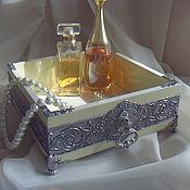 Для дома и интерьера ручной работы. Ярмарка Мастеров - ручная работа Короб для парфюма деревянный объемный декор. Handmade.