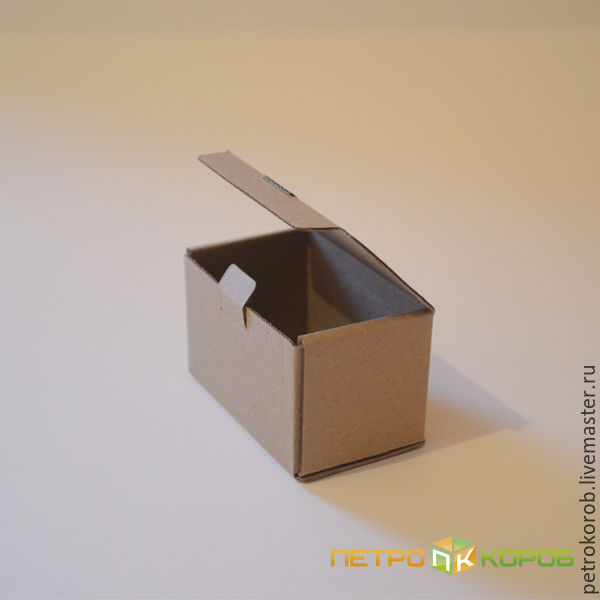 8х5х5см Самосборная коробка бурая 012, Коробки, Санкт-Петербург,  Фото №1