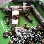Украшения ручной работы. Ярмарка Мастеров - ручная работа Охотница за шелестом дождя, большое шумящее ожерелье в этностиле. Handmade.