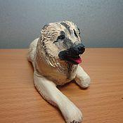 """Куклы и игрушки ручной работы. Ярмарка Мастеров - ручная работа фигурка собаки """"Овчарка"""" из глины. Handmade."""
