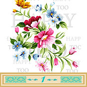 Материалы для творчества handmade. Livemaster - original item Termotransfer. Flowers. Termoprint. Pictures for fabric. Decal.. Handmade.