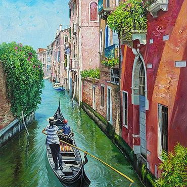 """Картины и панно ручной работы. Ярмарка Мастеров - ручная работа Картина """"Венеция"""" 60х40. Handmade."""