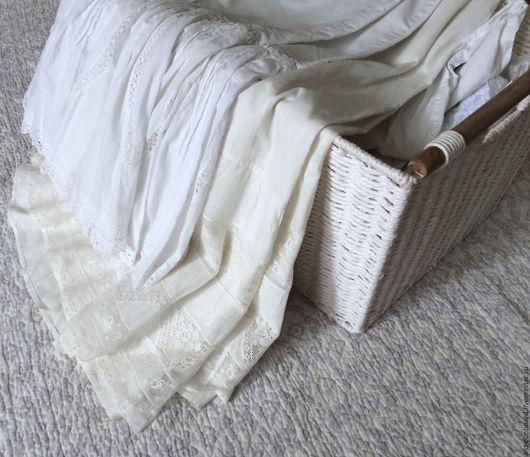 Одежда. Ярмарка Мастеров - ручная работа. Купить Старинная юбка с кружевом №2.. Handmade. Белый, лён