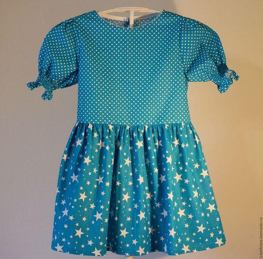 Одежда для девочек, ручной работы. Ярмарка Мастеров - ручная работа. Купить Детское платье звезды горошки. Handmade. Летнее платье