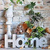 Для дома и интерьера handmade. Livemaster - original item The word concrete HOME in the Loft, Provence, Country, hi-tech. Handmade.