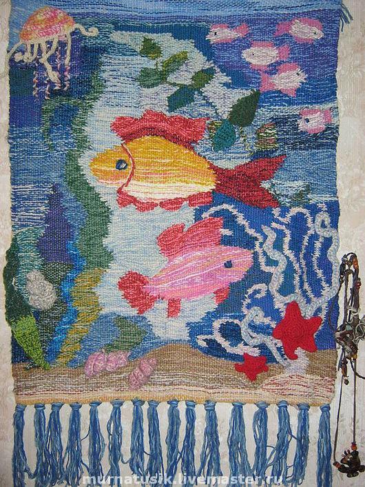 """Животные ручной работы. Ярмарка Мастеров - ручная работа. Купить Гобелен """"Рыбки"""". Handmade. Гобелен, рыбки, море, шерстяная пряжа"""