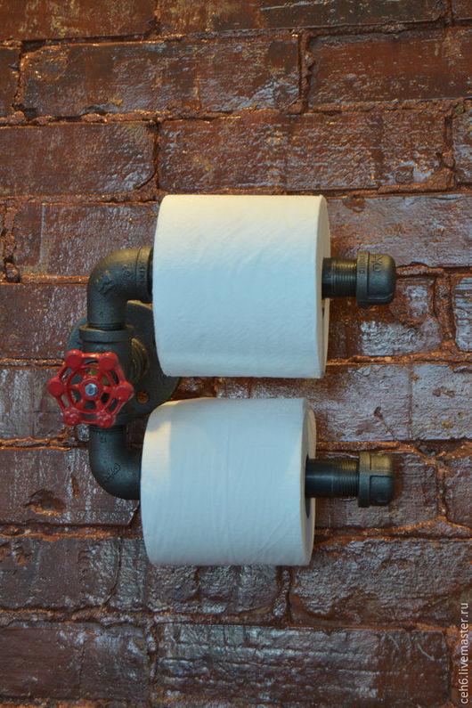 Ванная комната ручной работы. Ярмарка Мастеров - ручная работа. Купить Лофт держатель для бумаги. Handmade. Держатель, ванная комната