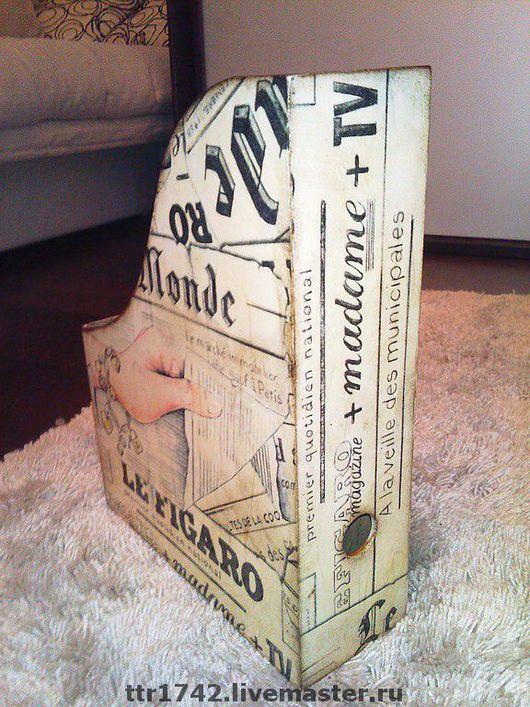 """Журнальницы ручной работы. Ярмарка Мастеров - ручная работа. Купить Журнальница """"LE FIGARO"""". Handmade. Подарок на новый год, акрил"""
