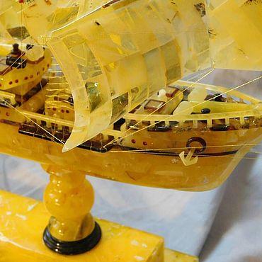 Для дома и интерьера ручной работы. Ярмарка Мастеров - ручная работа Янтарь корабль Su-20. Handmade.