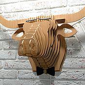 Маски ручной работы. Ярмарка Мастеров - ручная работа Голова буйвола декоративная. Handmade.