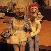 """Куклы и игрушки ручной работы. Ярмарка Мастеров - ручная работа Кукольная пара """"Чай вдвоем"""". Handmade."""