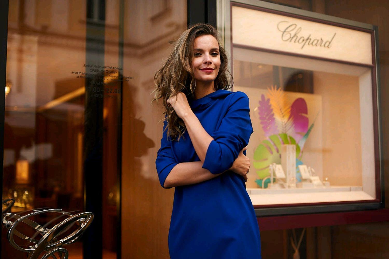 """Платье из джерси """"Кобальт"""", Платья, Москва,  Фото №1"""