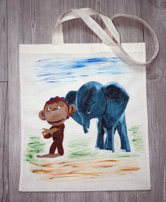 Экосумка `Мартышка и слонёнок`