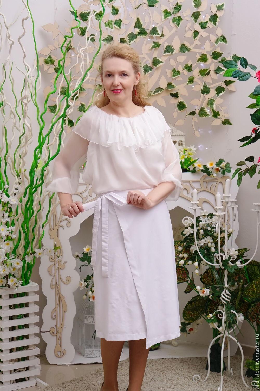 ef0f2e06866e Skirts handmade. Livemaster - handmade. Buy White skirt