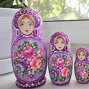 Русский стиль handmade. Livemaster - original item Matryoshka Floral 5 m. Handmade.