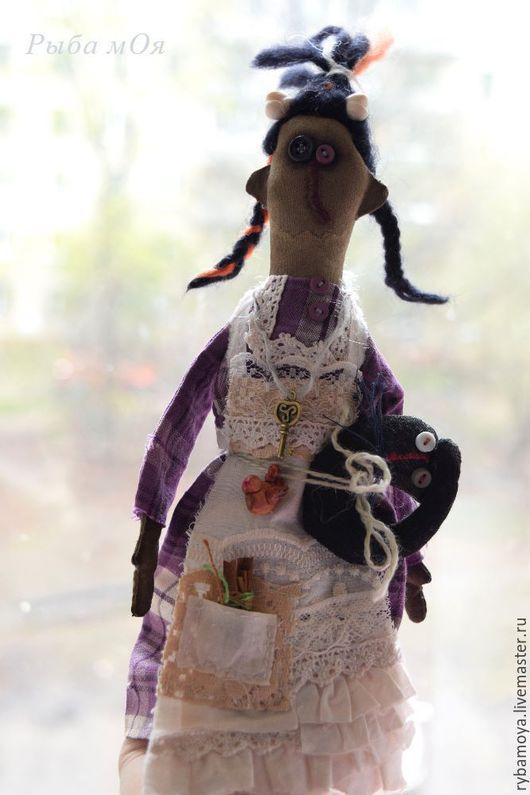Ягуся и Ко. Примитивная  кукла. Ярмарка мастеров - ручная работа. Handmade. Купить чердачную куклу Ягуся.  Бохо стиль. Мастер Яга.