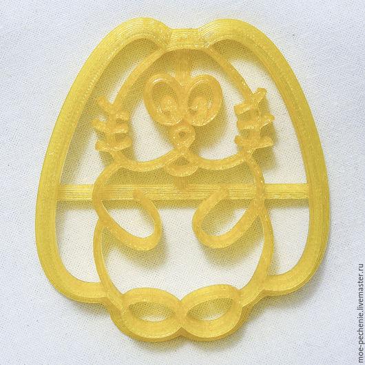 Зайка (01). Вырубка-штамп для пряников, печенья, поделок из соленого теста.