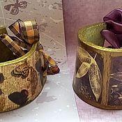 Украшения ручной работы. Ярмарка Мастеров - ручная работа Кожаные браслеты  Бабочки и Фиолет. Handmade.