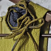 Украшения ручной работы. Ярмарка Мастеров - ручная работа Брошь цвета горчицы. Handmade.