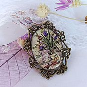 Brooches handmade. Livemaster - original item Vintage Brooch Purple Purple Tulips Provence France. Handmade.