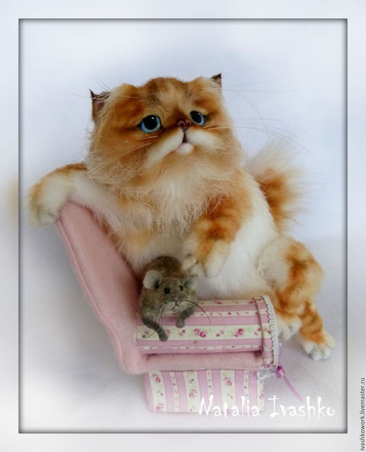 Игрушки животные, ручной работы. Ярмарка Мастеров - ручная работа. Купить Рыжее счастье). Handmade. Рыжий кот, рыжий цвет