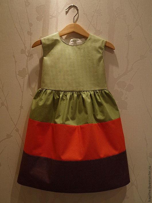 """Одежда для девочек, ручной работы. Ярмарка Мастеров - ручная работа. Купить Детское платье""""Мексиканские каникулы""""(2). Handmade. Платье для девочки, в клеточку"""