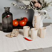 Посуда handmade. Livemaster - original item Set of wooden wine glasses (6#27. Handmade.