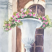 Картины и панно handmade. Livemaster - original item Corner of the estate Bykovo. Watercolor painting.. Handmade.