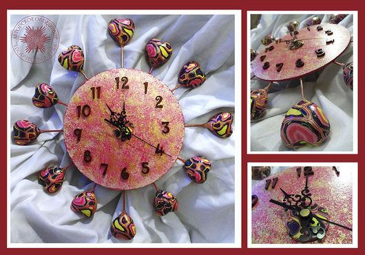 """Часы для дома ручной работы. Ярмарка Мастеров - ручная работа. Купить Настенные часы """"Союз сердец"""". Handmade. Настенные часы"""