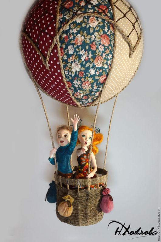 Элементы интерьера ручной работы. Ярмарка Мастеров - ручная работа. Купить Полёт на воздушном шаре. Handmade. Авторская кукла