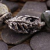 """Украшения ручной работы. Ярмарка Мастеров - ручная работа """"Папоротник"""" серебряная бусина для браслетов. Handmade."""