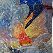 Картины и панно handmade. Livemaster - original item The picture with the fish wish-Fulfillment oil painting. Handmade.