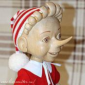Куклы и игрушки ручной работы. Ярмарка Мастеров - ручная работа Буратино из дерева. 48 см.. Handmade.
