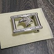 Материалы для творчества handmade. Livemaster - original item Belt buckle with a width of 3.8 cm, made of stainless steel.. Handmade.