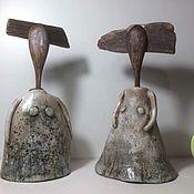 Куклы и игрушки ручной работы. Ярмарка Мастеров - ручная работа Кинетические девочки-ложки из керамики и дерева. Handmade.