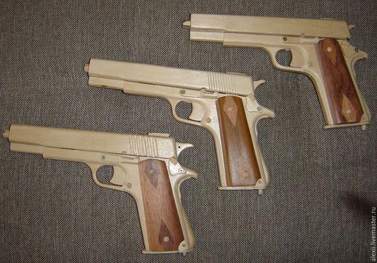Оружие ручной работы. Ярмарка Мастеров - ручная работа. Купить Деревянный пистолет Кольт 1911. Handmade. Пистолет, офисное оружие