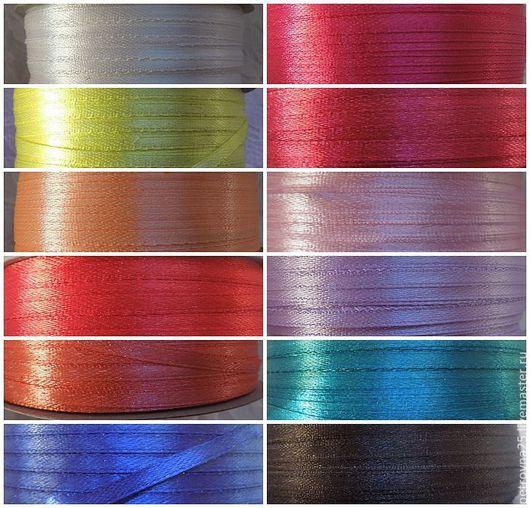 Другие виды рукоделия ручной работы. Ярмарка Мастеров - ручная работа. Купить Лента атласная 3 мм микс. Handmade.
