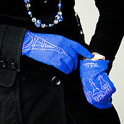 Аксессуары ручной работы. Ярмарка Мастеров - ручная работа Перчатки Столик в Париже. Handmade.