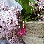"""Украшения ручной работы. Ярмарка Мастеров - ручная работа """"Розовый парфе"""" Серьги.. Handmade."""