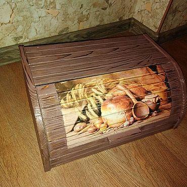 """Для дома и интерьера ручной работы. Ярмарка Мастеров - ручная работа Хлебница """"Пышный хлеб""""-2. Handmade."""