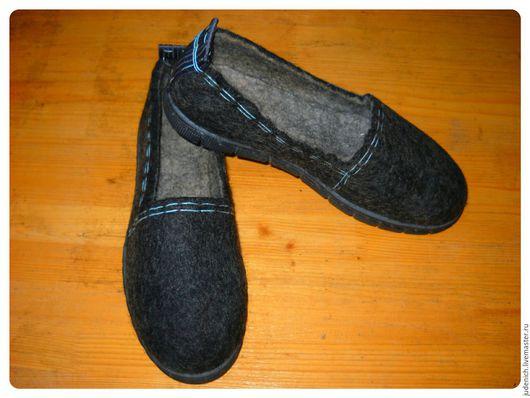 """Обувь ручной работы. Ярмарка Мастеров - ручная работа. Купить Мокасины унисекс """"Темная ночь"""". Handmade. Черный, ботинки мужские"""